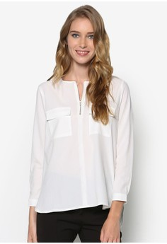 Collection Pocket Zip Detail Blouse