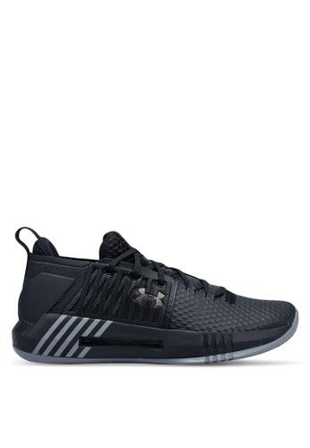 Under Armour black UA Drive 4 Low Shoes 52D7ESH994C580GS_1
