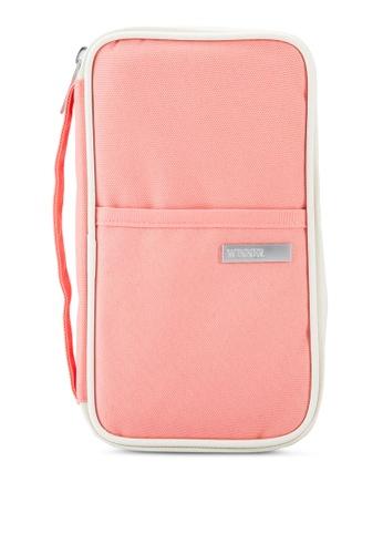 Bagstationz pink Hand Grab Travel Zip-Up Passport Wallet BA607AC87LQQMY_1