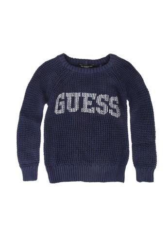 Guess blue Guess Logo Sweater F42FCKA0BFC2D8GS_1