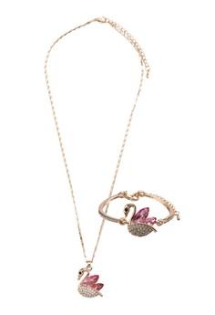 Swan Crystal Jewelry Set