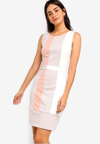 ZALORA multi Colour Block Sheath Dress F0A8DAA97F332EGS_1