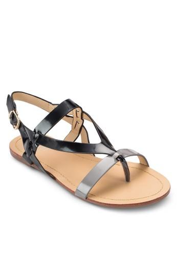 Lesprit 中文ora Criss Cross Sandals, 女鞋, 鞋