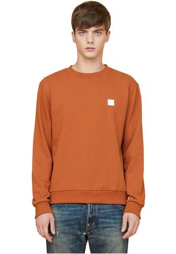 MILLOGREM orange Initials Sweatshirts MI241AA0GE5NSG_1