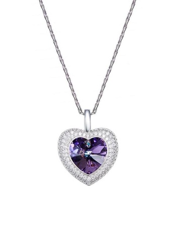 ADORA purple Swarovski Love Heart Pendant Necklace 0C297AC2C3FA7EGS_1