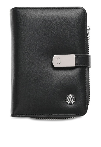 Volkswagen black RFID Short Purse 535A0ACFF9B589GS_1