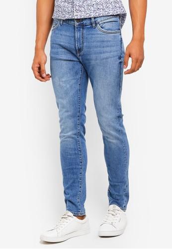 MANGO Man blue and multi Skinny Faded Medium Wash Jude Jeans 335F4AA2E2CE28GS_1
