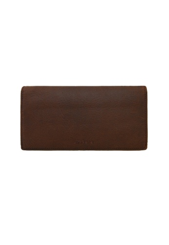 EXTREME brown Extreme Genuine Leather Long Wallet Multiple RFID Protected Card Slots Vintage Brown 14206AC9B16396GS_1