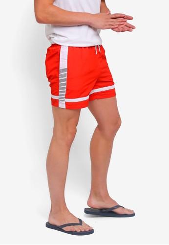 Factorie red Swim Shorts 67DE8AA7709863GS_1