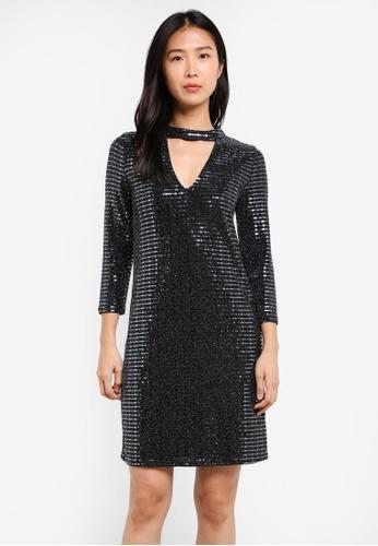 Wallis silver Sequin Swing Dress WA800AA0SD1JMY_1