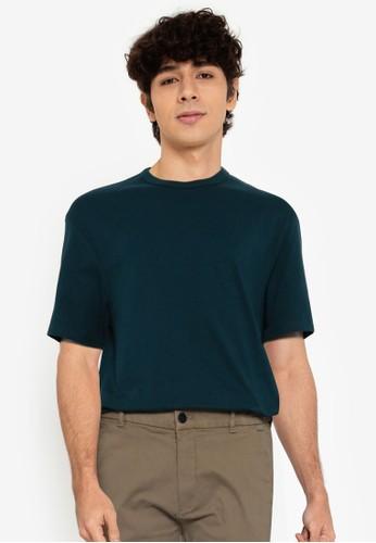 Springfield blue Open End Boxy T-Shirt 1500DAA3DED184GS_1