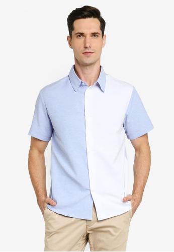 ZALORA BASICS multi Colour Block Button Down Shirt 93CA1AA5C85BF0GS_1