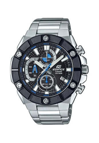 Casio silver Casio Edifice EFR-569DB-1AVUDF Black and Silver Stainless Steel Watch 85F7EAC984FCA8GS_1