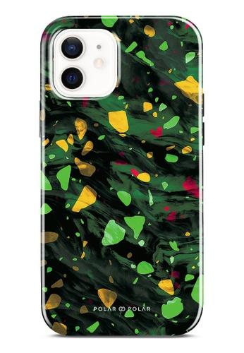 Polar Polar green Malachite Terrazzo Gem Dual-Layer Tough Case Glossy For iPhone 12 5B43CAC9E6DF55GS_1