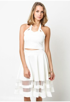 White Louise Crop Top