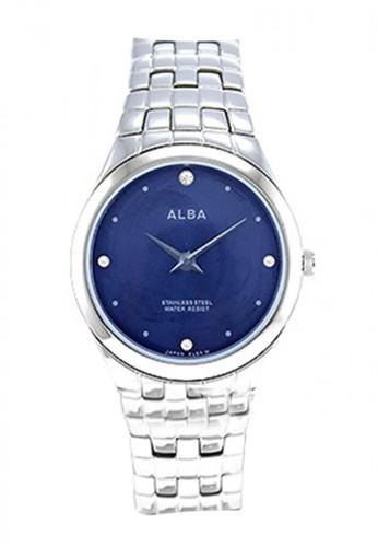Alba silver Jam Tangan Wanita Alba Original ATAQ61 Strap Stainless Steel Silver Blue Dial 4E3ABAC08A9546GS_1