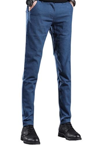 Twenty Eight Shoes blue VANSA Simple Slim Straight Trousers VCM-P505 ED482AAA510ED8GS_1