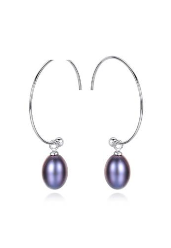 A.Excellence purple Premium Purple Pearl Elegant Earring 3D6ECAC5147D2CGS_1