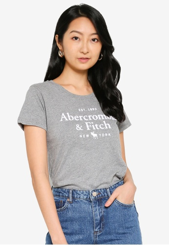 Abercrombie & Fitch grey Short Sleeve Moose Logo Tee 73DB3AA9BCE951GS_1