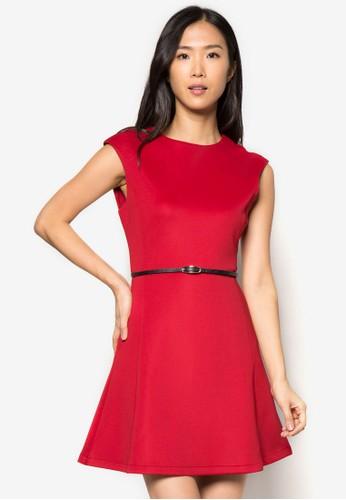 經典腰飾傘zalora開箱狀連身裙, 服飾, 服飾
