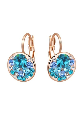 Kings Collection gold Genuine Austrian Crystal Rose Gold Color Earrings 39CDEAC733DB1DGS_1
