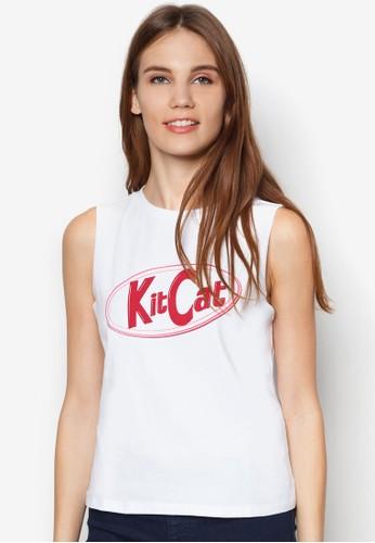 KitCat 文字背zalora 鞋評價心, 服飾, 服飾