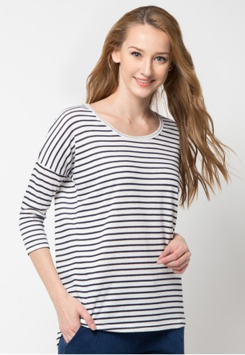 Rip Curl Ellie Stripe 3/4 Women Tee