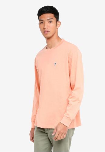 OBEY 紅色 素色長袖T恤 E416DAAB8B0F02GS_1