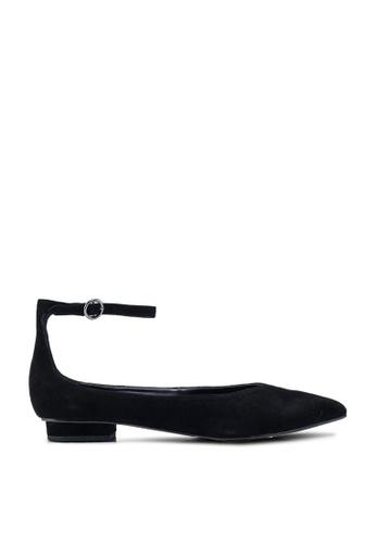 Banana Republic black Ankle Strap Flats 70EE6SH38A632DGS_1