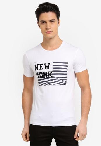 Calvin Klein white Tanav Slim Crew Neck Short Sleeve T-Shirt - Calvin Klein Jeans E6DE2AAD7ED3F7GS_1