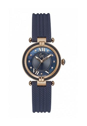 GC Watch blue Guess Collection Jam Tangan Wanita - Blue Rosegold - Rubber -  Y18005L7 GU977AC0UGACID 1 e1f89e0ec3