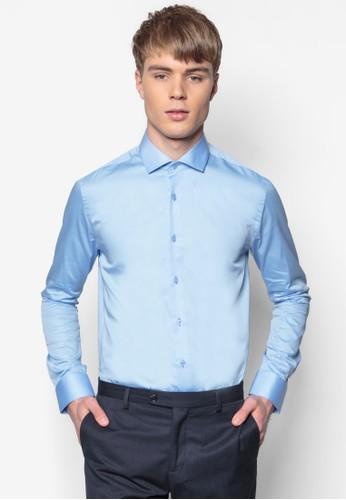 合身長袖esprit 品牌襯衫, 服飾, 素色襯衫