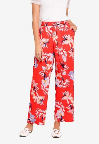 Vero Moda red Bali Wide Pants F8CD8AA783E54AGS_1