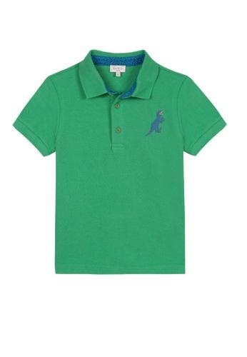 PAUL SMITH JUNIOR green PAUL SMITH JUNIOR TEEN BOYS POLO SHIRT 4BDC7KA581D025GS_1