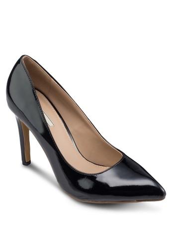 漆皮尖頭細跟高跟鞋, 女鞋,zalora 順豐 高跟