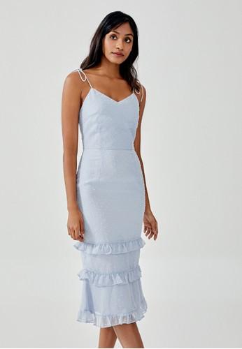 Love, Bonito blue Jaenie Textured Ruffle Tiered Dress F49C9AA8A92744GS_1