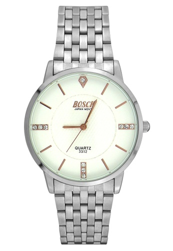 Dooka silver Bosck Men's Round Dial Stainless Steel Wrist Watch 3312 DO079AC79WCUPH_1