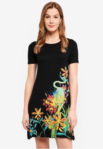 Desigual black Agra Dress 0F96AAA3D655F9GS_1
