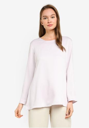 Aqeela Muslimah Wear purple Basic Blouse EE322AA11AB937GS_1
