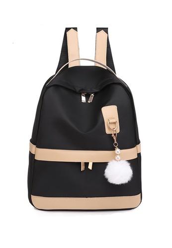 Lara black Women's Leisure Water Repellent Breathable Light-weight Zipper Backpack - Black 064BBACDCE9DE4GS_1