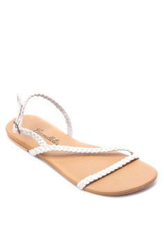Braided Sling Back Sandals