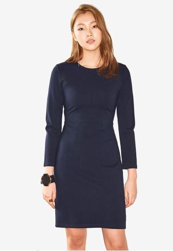 NAIN navy Long Sleeve Jersey Dress ADFF7AACCD79DEGS_1
