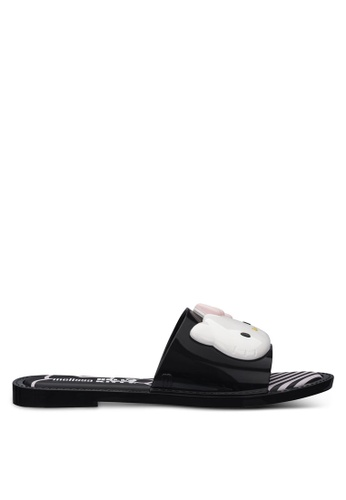 Melissa black and white Melissa Ad Hello Kitty Ad Sandals C7DAESH4A33848GS_1