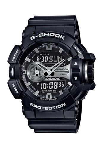CASIO black Casio G-Shock Silver and Black Resin Watch CA85FAC283A5B9GS_1