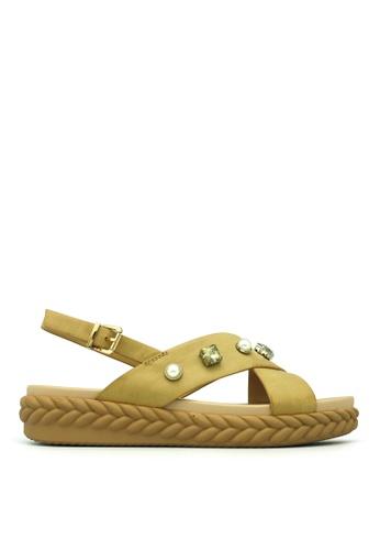 Carlo Rino brown Carlo Rino 333070-190-25 Slingback Flat Sandal (Brown) 42D01SH4C8536AGS_1