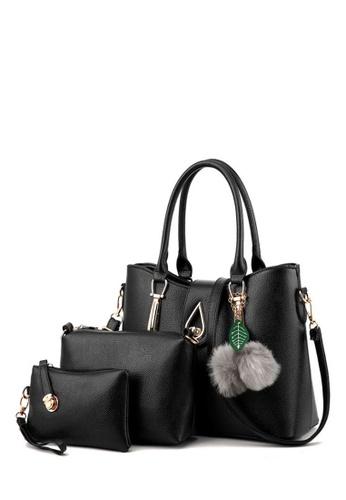 TCWK black Set of 3pcs Ladies Handbag TC258AC0RFP6MY_1