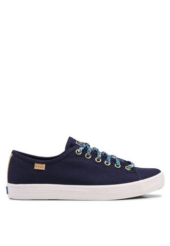 Keds 藍色 花卉蕾絲運動鞋 B46E1SH1FC942EGS_1