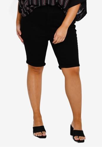 Dorothy Perkins black DP Plus Size Black Denim Shorts B82CAAA233EB35GS_1