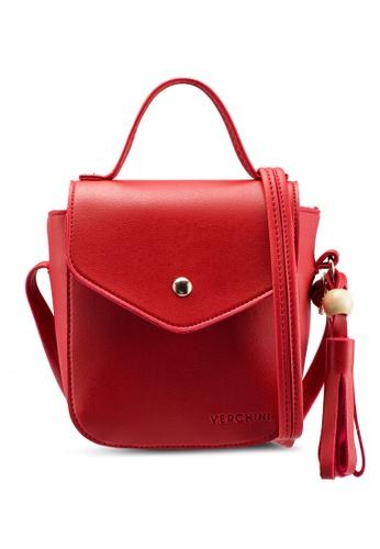 Verchini red The Square Sling Bag 23A42AC56C4C48GS_1