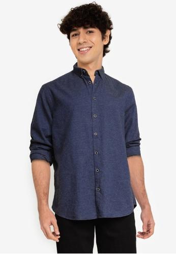 KOTON blue Man Shirts 62194AA49A2166GS_1